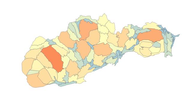 Voľby 2012 ako cartogram