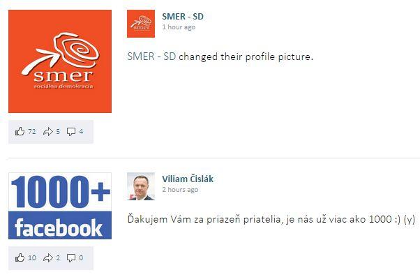 Slovenská politika z Facebooku na jednom mieste